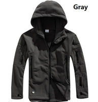 US Military Fleece Tactical Jacket Men Thermal Outdoor Polartec Warm Hooded Coat Militar
