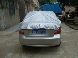 Car Cover Prevent Heat Cold Sun Rain Snow Half Auto Cover For Saloon Hatchback Pickup PVC Coating Cover L XL Optional