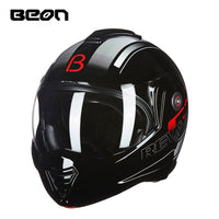 Beon Men's Motorcycle Flip up helmets motorbike Variety winter Moto Personality locomotive helmets femal helmet