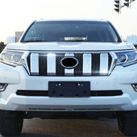 For Toyota Land Cruiser Prado FJ150 2018 car accessories Front Middle Grill Grille Cover Trim ABS Chrome 6pcs car styling