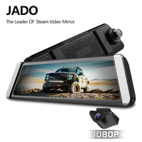 JADO D800s X7 Dash cam Stream Rearview Mirror  LDWS GPS Track 10 IPS Touch Screen Full HD 1080P Car Dvrs Recorder