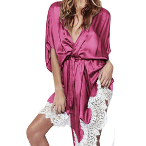 szlafrok Wedding Bride Bridesmaid Robe Satin Bathrobe Nightgown For Women Kimono Sleepwear Pijama  Lingerie Nightwear Nightie