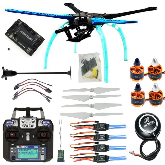 RC Drone Quadrocopter 4-axle Aircraft Kit 500mm Multi-Rotor Frame 6M GPS APM2.8 Flight