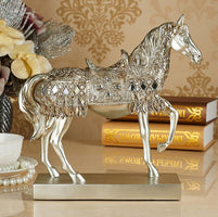 Classical Home Furnishing Craft Decoration Artificial Horse Figurine Home Ornament Resin Golden War-horse Birthday Business Gift