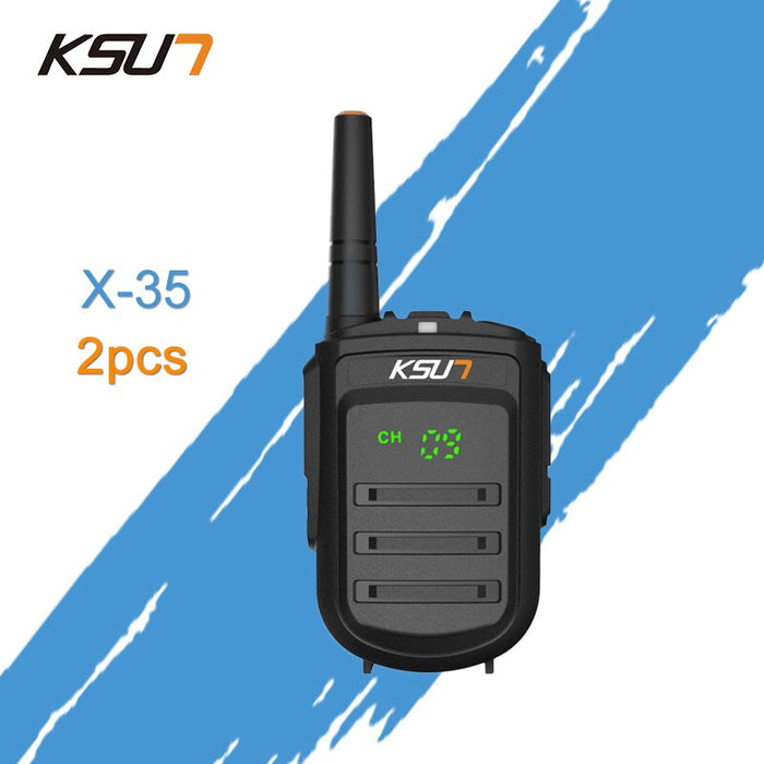 2 PCS KSUN X-35TFSI Walkie Talkie 8W Handheld Pofung  UHF 8W 400-470MHz 128CH Two Way Portable CB Radio