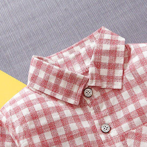 DFXD Korean Style Children Boy Clothes Baby Shirt 2018 Spring Long Sleeve Plaid Cotton Boy Blouse Fashion Kids Boys Shirt 1-4Y