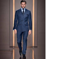 2020 Summer Style Custom Double Breasted Man Suit Groom Tuxedo Bespoke  Suits(Jacket+Pants+tie)