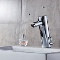 Sink Faucet Hot & Cold Bathroom Automatic Touchless Sensor Faucets water saving Inductive electric Water Tap battery power