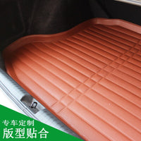 For Peugeot 408 2014-2019 1PC Car Styling Cargo Liner Car Trunk Mat Carpet Interior Floor Mats Leather Pad Auto Accessories
