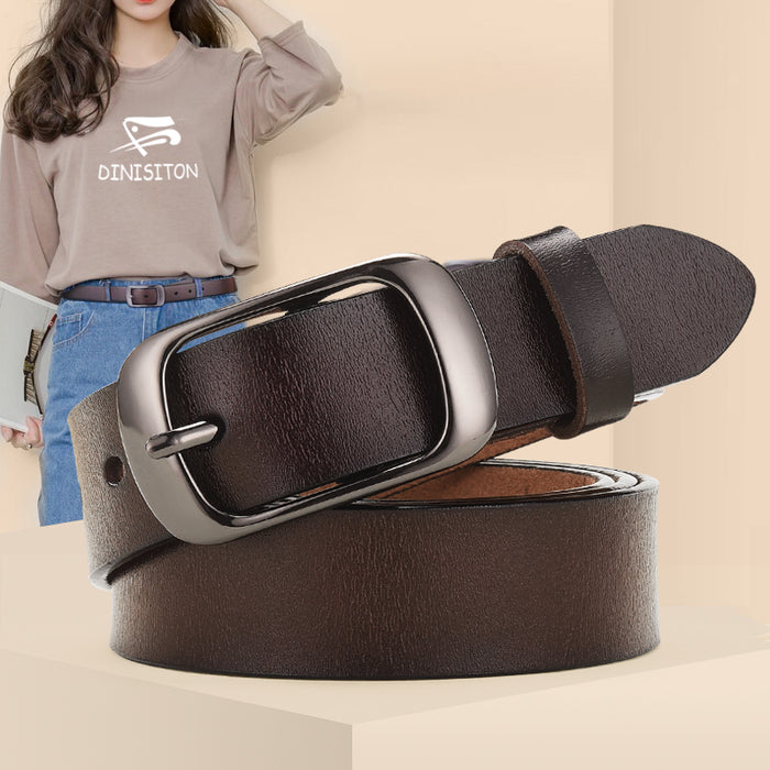 DINISITON New Women Genuine Leather Belt For Female Strap Casual All-match Ladies