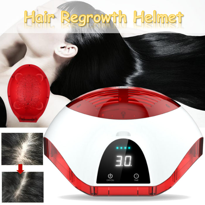 LCD Display Laser Therapy Hair Growth Helmet Anti Hair Loss Device Treatment Anti Hair Loss