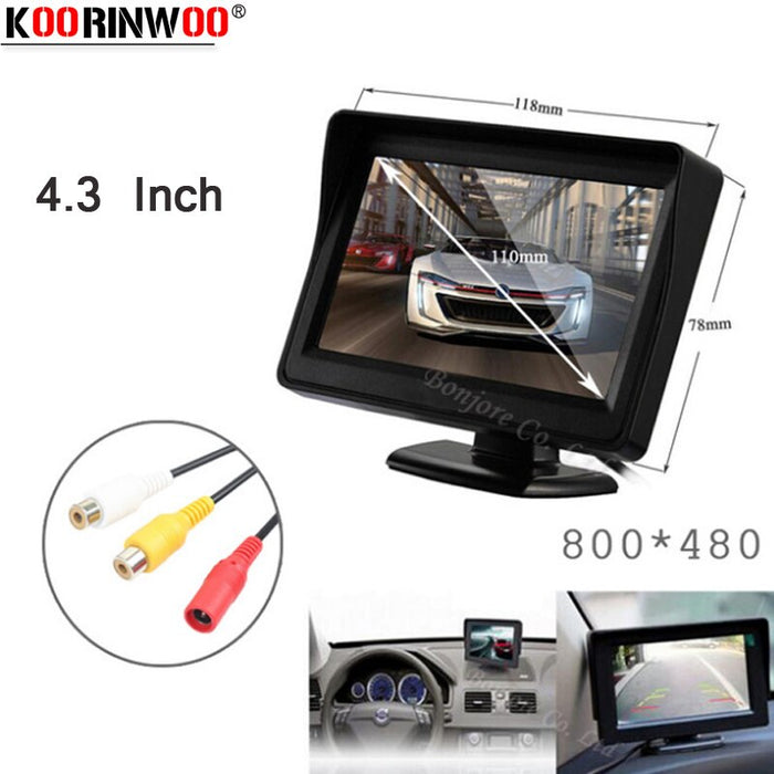 Koorinwoo Parking Assistance 4.3 TFT Screen player 800*480 Monitor Display For Car Reverse
