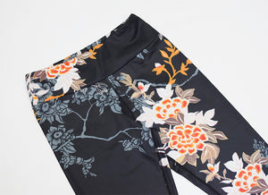 Female Yoga Set Fitness Workout Women Sport Suit Black Floral Ensemble Sportswear Sexy Gym Wear Running Clothing Tracksuit