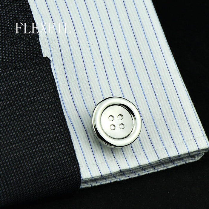 jewelry fashion shirt cufflinks for mens gift Brand cuff links buttons round High Quality