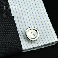 jewelry fashion shirt cufflinks for mens gift Brand cuff links buttons round High Quality abotoaduras gemelos Free Shipping