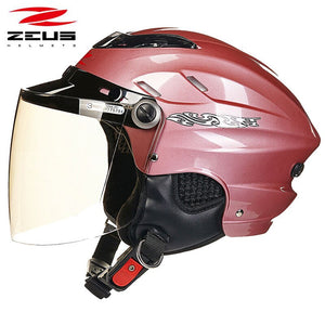ZEUS 125B half face motorcycle helmet  Matte black motocross off-road vehicle racing