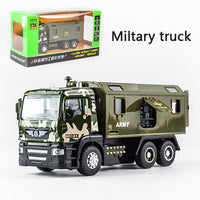 KIDAMI 1:50 Engineering vehicle Alloy Pull Back giet druckDiecast Car Model Toy with sound light Gift toys for children