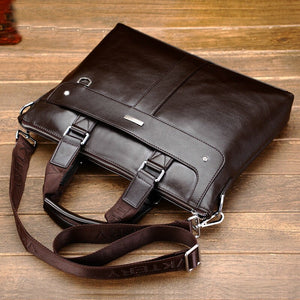 Business Briefcase Leather Men Bag Computer Laptop Handbag Man Shoulder Bag Messenger Bags Men's Travel Bags Black Brown