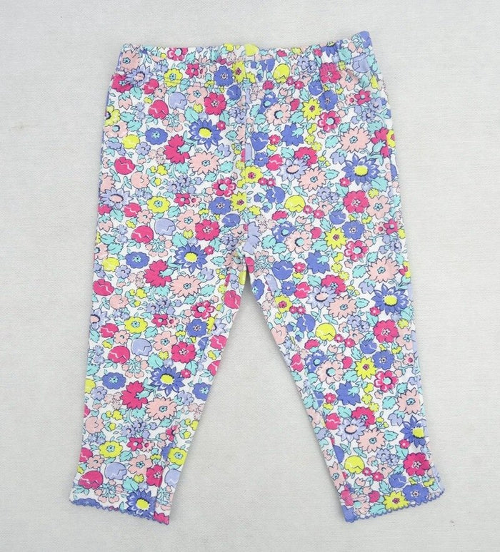 2019 Baby Girls Leggings Red Floral Cotton Girl Leggings Kids Legging Waist Infant Trousers E