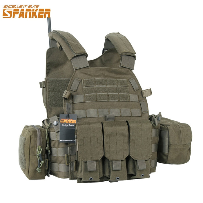 EXCELLENT ELITE SPANKER Outdoor 6094 Tactical Combat Vests Camouflage Military Vest Jungle