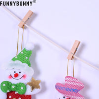 FUNNYBUNNY 1M Xmas Pull Flag Lucky Small Hat/Clothes Pants/Socks Pattern Design Happy Christmas Decor For Home & School