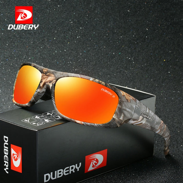 DUBERY Polarized Sunglasses Men Driver Sport Sun Glasses Brand Designer For Male Safety Driving