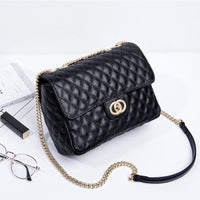 2018 New Fashion Korean Version Ladies Leather Retro Small Fragrance Chain Shoulder Messenger Bag
