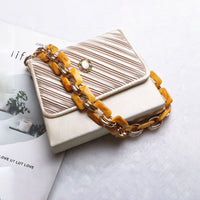Acrylic Shoulder Straps For Handbags Women Luxury Designer Acrylic Alloy Hand Made Purse Belts Ladies High Quality Handbag Strap