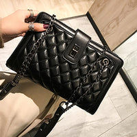 2019 Large Shoulder Bag Women Travel Bags Leather Pu Quilted Bag Female Luxury Handbags