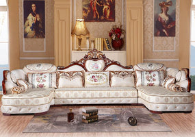 European Style Sofa Combination Simple Living Room And Apartment Layout Simple European Classical Sofa