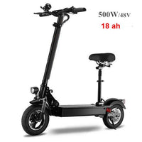 1200W Electric Scooter for Adult with seat 48V/500W dropshipping kick scooter foldable electro bicycle electrical bike