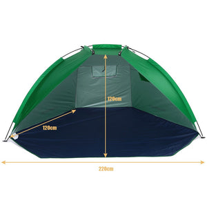 TOMSHOO 2 Persons Camping Tent Single Layer Outdoor Tent Anti UV Beach Tents Sun Shelters Awning Shade for Fishing Picnic Park
