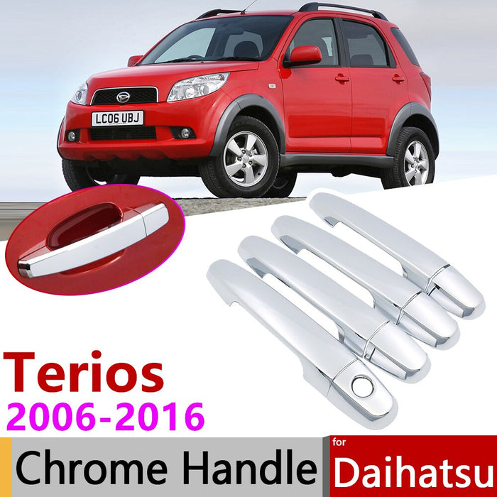 for Daihatsu Terios Bego Eco Wild J200 F400 2006~2016 Chrome Door Handle Cover Car Accessories