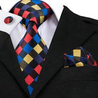 SN-423 New Fashion Gentlemen Tie Set with Hanky  Cufflinks 100 Percent Silk Fabric Neck Tie from China Factory