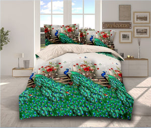BEST.WENSD Animal Bed Linens Quality 3/4pc Bedding Set duvet Cover+beds sheet+pillowcase High quality luxury soft comefortable