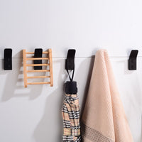 Robe Hooks Black Bathroom Hook for Towels Wall Mounted Decoration Coat Hooks Rack Clothes Hangers Aluminum Bathroom Accessories