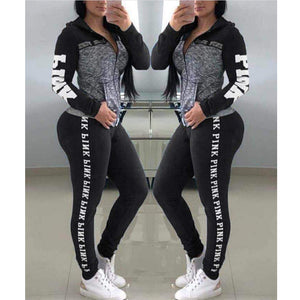 PINK Litter Women Yoga Sets Sport Top+Yoga Pants Fitness Clothing Sportwear Women Yoga Suit Sports Wear For Women Gym Clothing