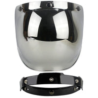 Universal Flip up Lens Bubble Visor Face Shield Mask for Bitwell Vintage Retro Motorcycle