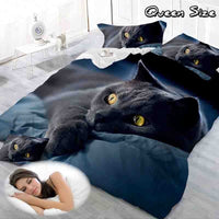 Cat pattern(There are Multiple repetition patterns like the picture) Bedding Sets 2/3/4pcs Bed Set