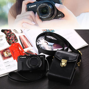 High Quality PU Camera Bag Leather Case For Canon IXUS 285 265 245 240 230 220 190 185 182 180 177 175 170 162 160 132 130