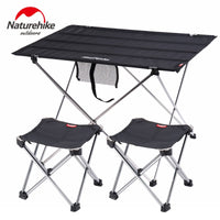 Naturehike Camping Table Ultralight Collapsible Portable Aluminium Roll Up Outdoor Folding Fishing Table Foldable Picnic Table