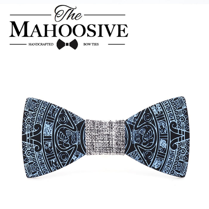 MAHOOSIVE New Style Fashion Handmade Wood Wedding Bowtie Gravata