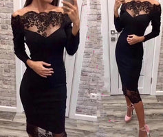 Seamyla 2019 New Women Bandage Dress Vestidos Slash Neck Lace Celebrity Party Dress Sexy Wine Red Black Bodycon Club Dresses