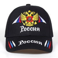 2018 New Neutral Cotton Outdoor Baseball Cap Russia Badge Embroidery Snapback Fashion Sports Hat Men and women with Patriot Hats