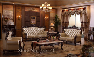 sofa set living room furniture wood and genuine leather living room sets luxury sofa set buying agent wholesale price