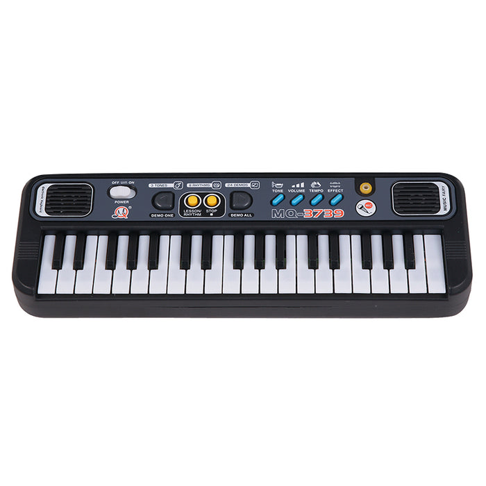 Multifunctional Mini Electronic Piano With Microphone Abs Children Portable 37 Keys Digital