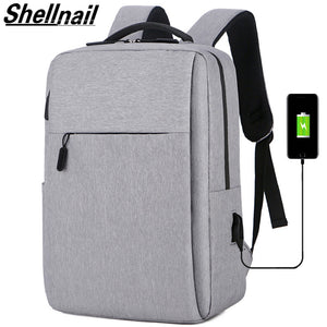 Shellnail Waterproof Laptop Bag Travel Backpack Multi Function Anti Theft Bag For Men PC Backpack USB Charging For Macbook IPAD