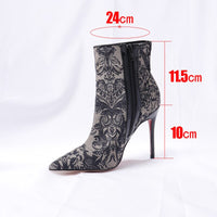 QWEDF Sexy mesh women's shoes  boots spring and autumn 2019 new transparent ankle boots