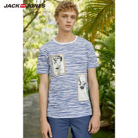 JackJones Men's 100% Cotton Printed Short-sleeved T-shirt E|219101532