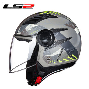 LS2 OF562 Airflow Open Face Motorcycle Helmet Original Capacete LS2 Scooter Half Face Vintage Retro capacete casco  Casco moto